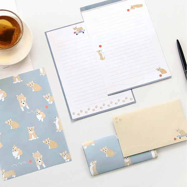 ICONIC Letter Writing Set, Welsh Corgi