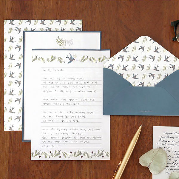 ICONIC Letter Writing Set, Swallow