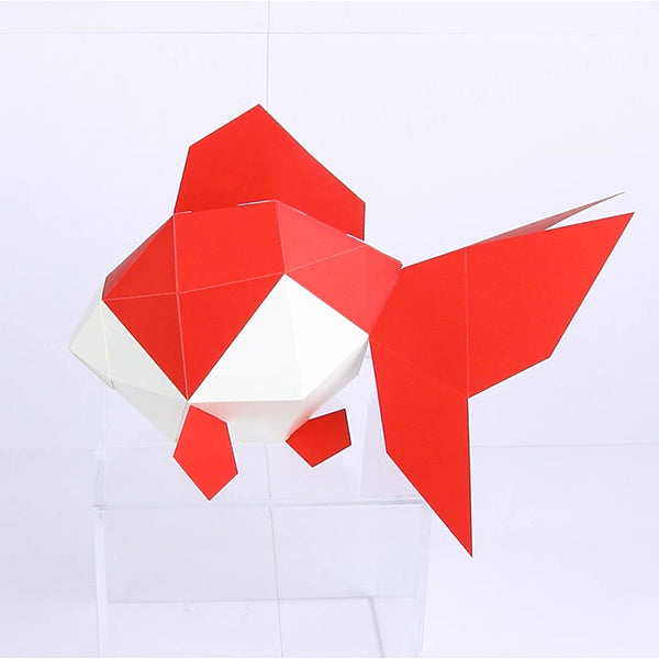 KAKUKAKU Tiny Papercraft Animal, Goldfish