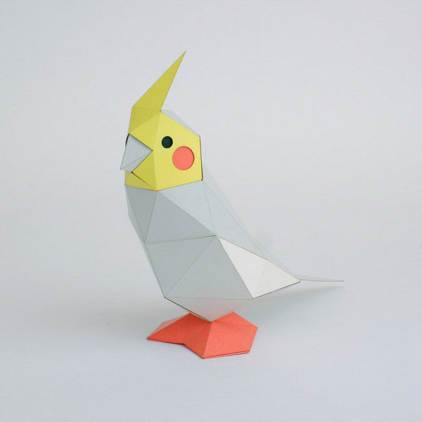 KAKUKAKU Tiny Papercraft Animal, Cockatiel 🕊️