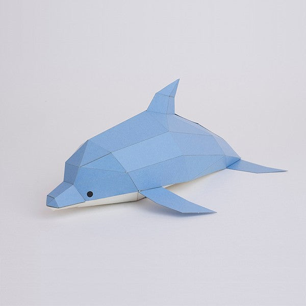KAKUKAKU Tiny Papercraft Animal, Dolphin 🐬