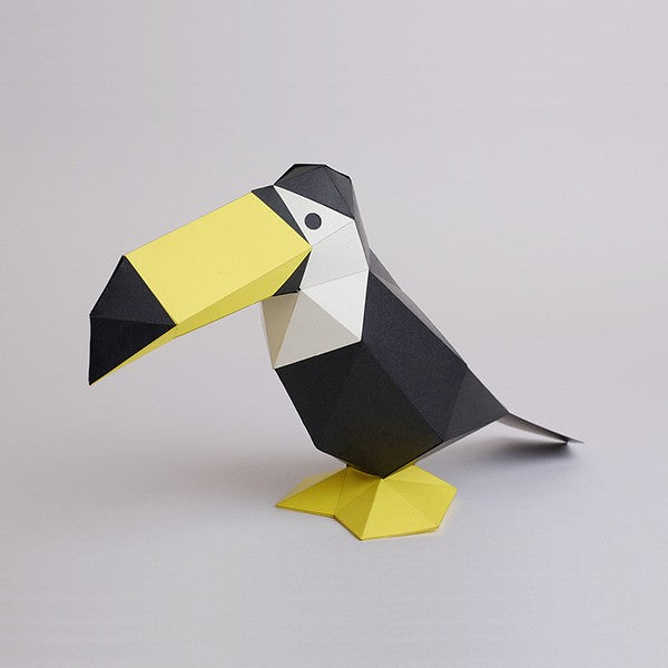 KAKUKAKU Tiny Papercraft Animal, Toco Toucan 🐦