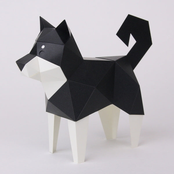 KAKUKAKU Tiny Papercraft Animal, Kuroshibainu 🐕