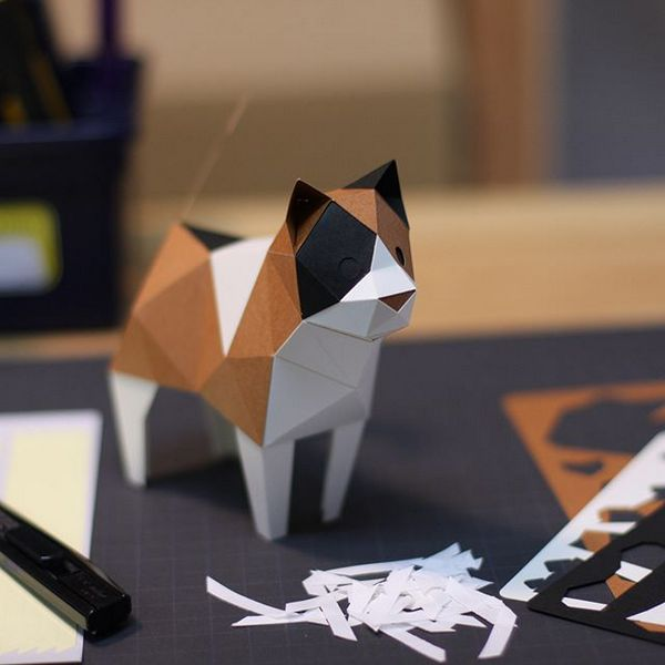 KAKUKAKU Tiny Papercraft Animal