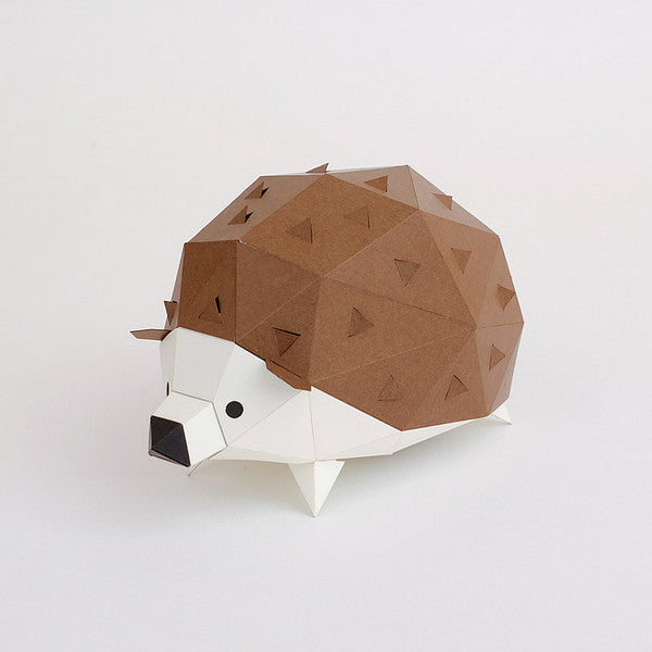 KAKUKAKU Tiny Papercraft Animal, Hedgehog