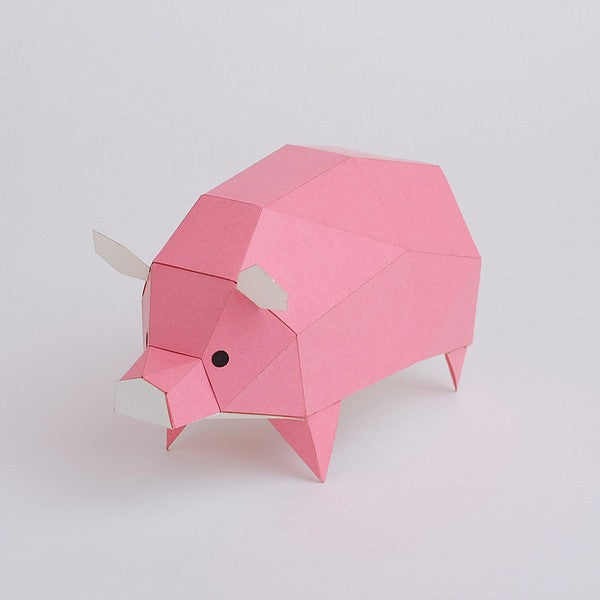 KAKUKAKU Tiny Papercraft Animal, Pig 🐖