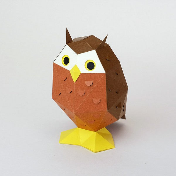 KAKUKAKU Tiny Papercraft Animal, Owl 🦉