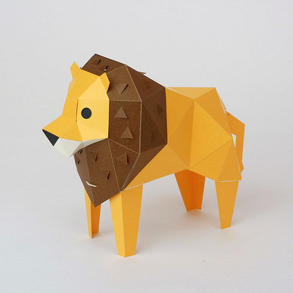 KAKUKAKU Tiny Papercraft Animal, Lion 🦁