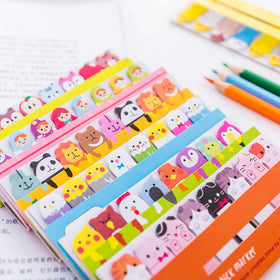 Kawaii Colorful Animal Bookmarks Paper Sticky Notes