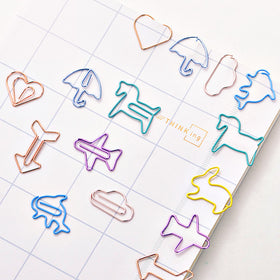 Kawaii Colorful Paper Clips 24 Pcs Pack