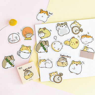 Kawaii Hamster Paper Stickers 45 Pcs