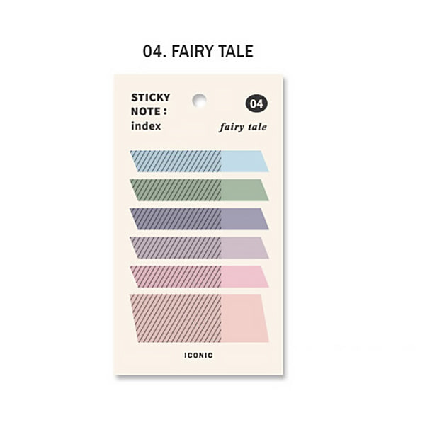 Korea ICONIC Pastel Color Index Tab, Fairly Tale