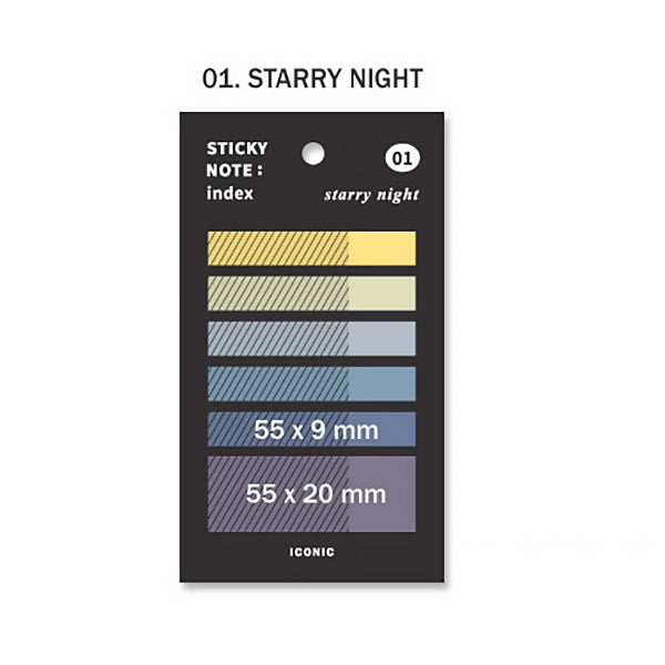 Korea ICONIC Pastel Color Index Tab, Starry Night