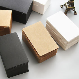 Kraft Paper Blank Flash Memo Card Box 100 Sheets