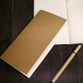 Kraft Paper Travel Planner Notebook Dotted Lined Grid Blank