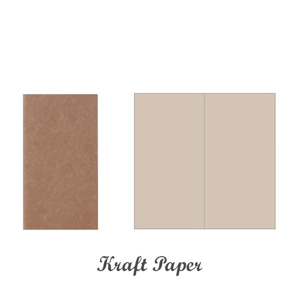 Kraft Paper Travel Planner Notebook Dotted Lined Grid Blank, Kraft Paper