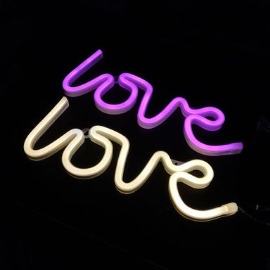 Word and Sign Neon Light