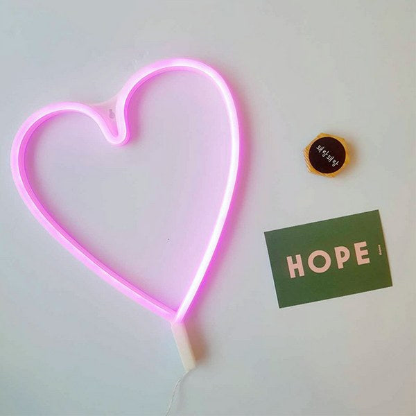 Word and Sign Neon Light, ❤️Heart / Magenta