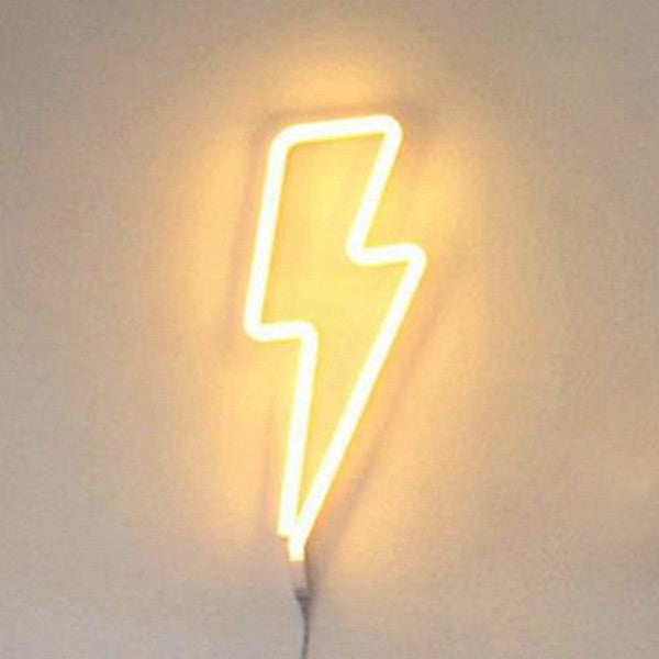 Word and Sign Neon Light, ⚡Lightning / Yellow