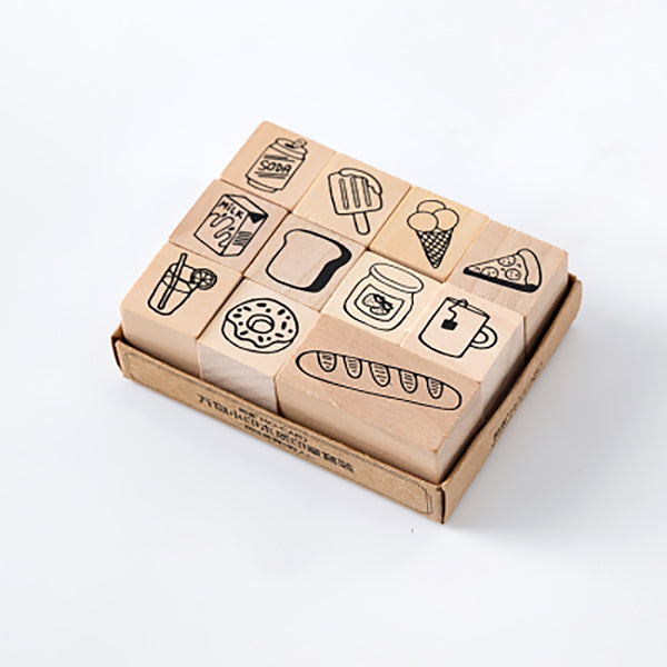 LifeStyle Wooden Stamp Set, Food