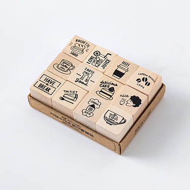 LifeStyle Wooden Stamp Set, Tea Time