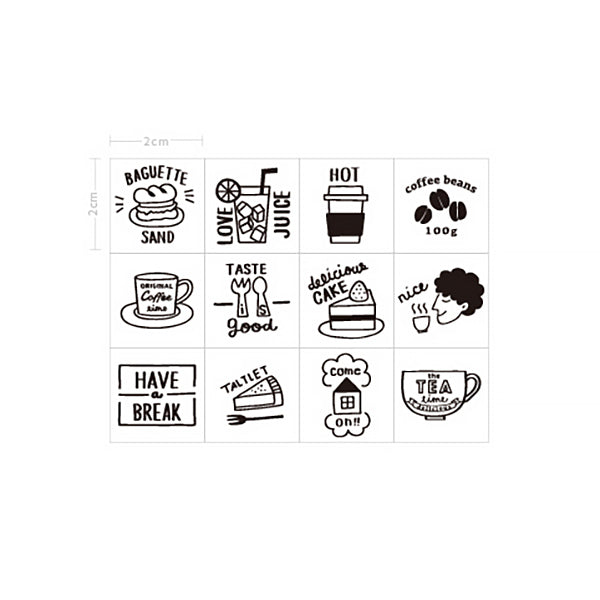 LifeStyle Wooden Stamp Set