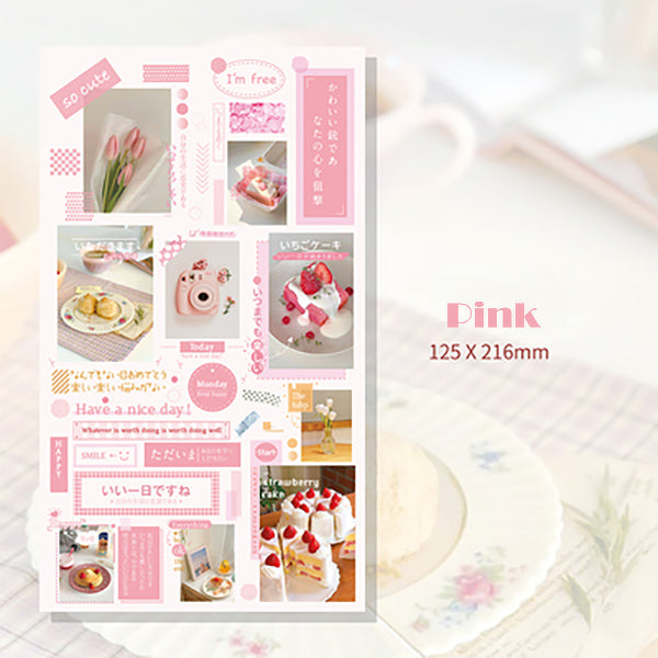 Lift Style Scrapbooking Paper Stickers, Pink