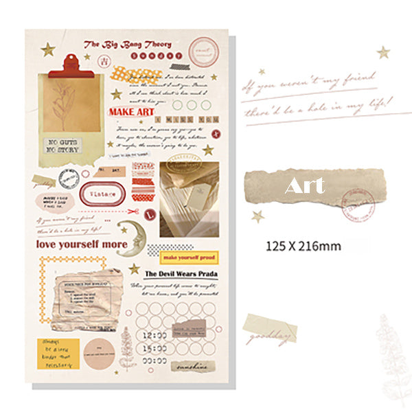 Lift Style Scrapbooking Paper Stickers, Art