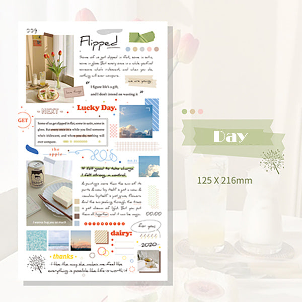 Lift Style Scrapbooking Paper Stickers, Day