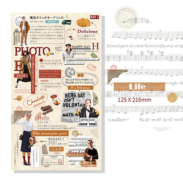 Lift Style Scrapbooking Paper Stickers, Life