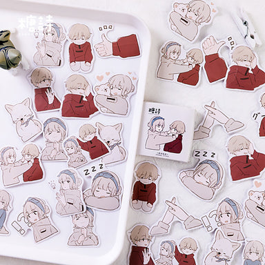 Love Diary Japanese Cartoon Stickers
