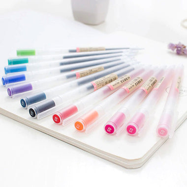 MUJI Style Gel Pen 12 Colors Set