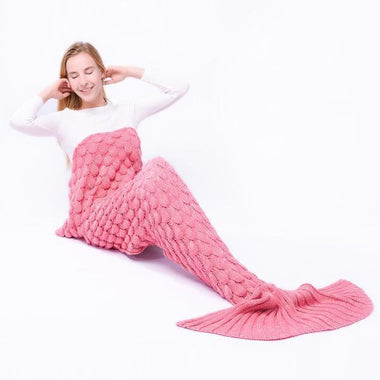 Mermaid Tail Blanket (for adult),Pink