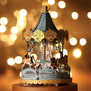 Merry Go Round Papercut Light Model