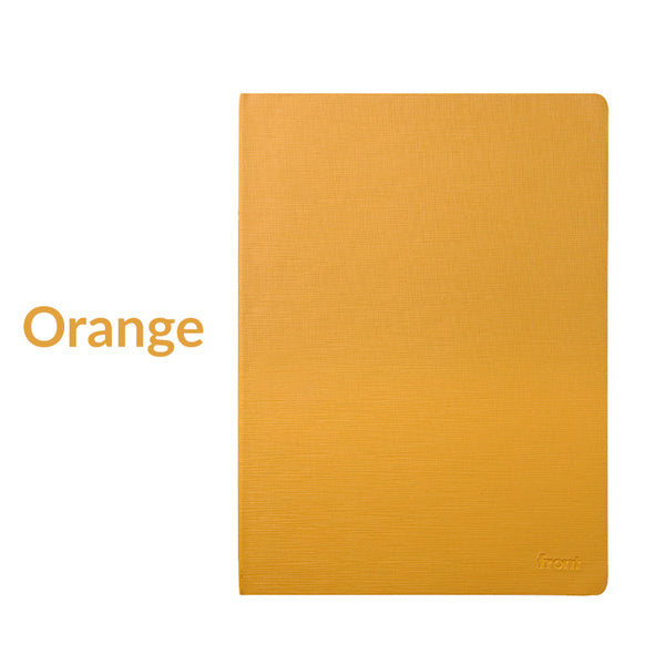 Minimalist Journal Notebook Lined Grid Blank A5/B5, Orange / A5 / Gridded