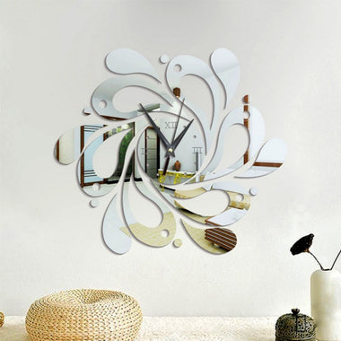 Modern Adhesive Wall Clock,Transparency