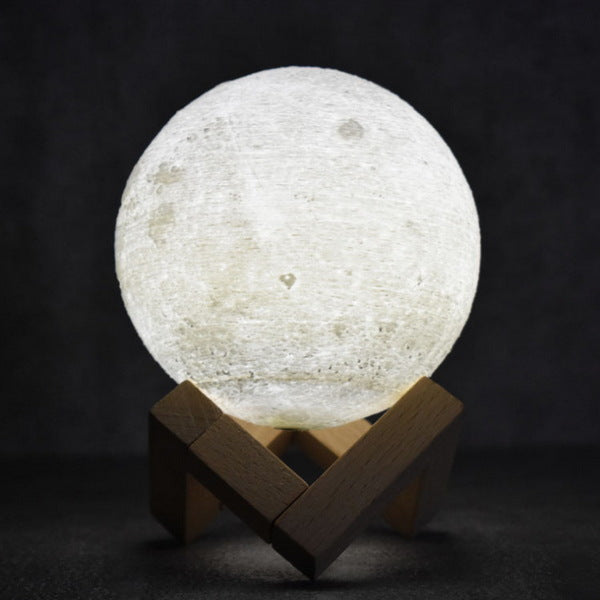 Moon Lamp (Remote Control), 8cm (3 inch approx.)🌝 Tap Control (3 colors)