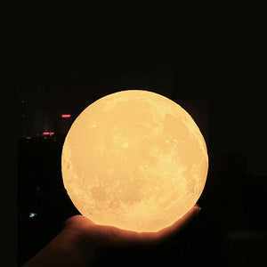 Moon Lamp (Tap, Touch and Remote Control)