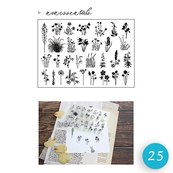 Natural Theme Acrylic Clear Stamp for Journaling
