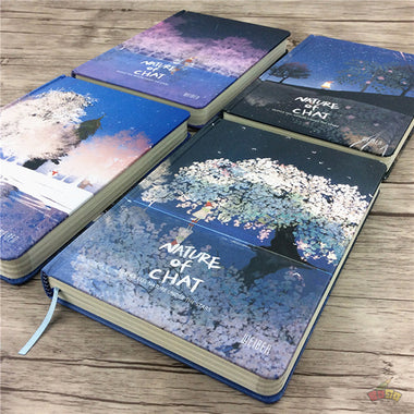 Nature of Chat Illustration Thick Page Personal Journal Notebook