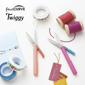 PLUS Fitcut Curve Twiggy Portable Scissors
