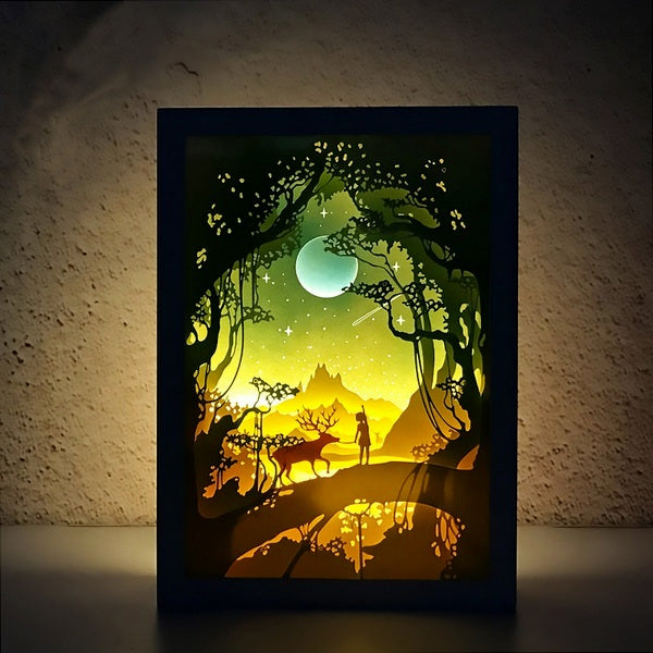 PaperCut Light Shadow Box,Deer
