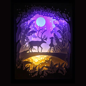 PaperCut Light Shadow Box,🦌 Deer