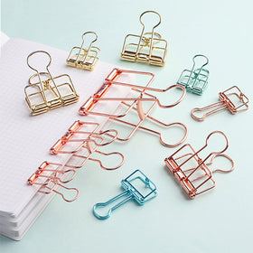 Pastel Binder Clip 6 Colors Set