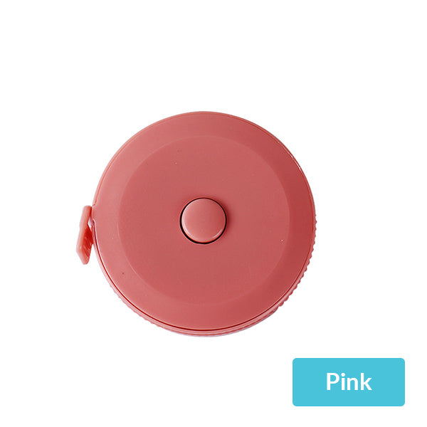Pastel Color Flexible Pocket Tape Measure Inch and Centimeter, Pink