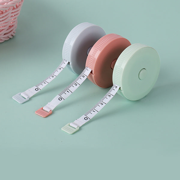 Pastel Color Flexible Pocket Tape Measure Inch and Centimeter