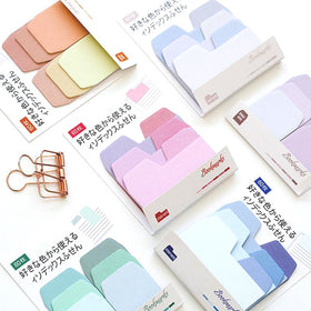 Pastel Gradient Bookmark Tab Style Sticky Note Pad Sets [Gift]