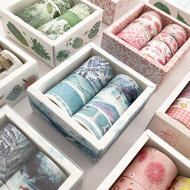 Pastel Watercolor Washi Tape Box Pack