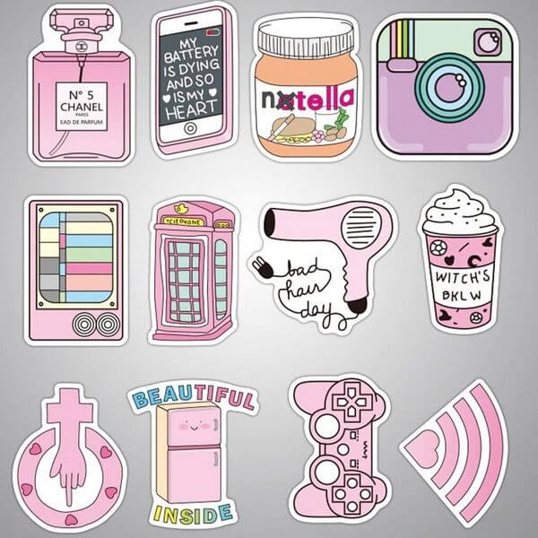Pink Carton Stickers