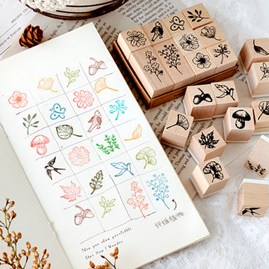Plant and Nature Wooden Stamp Set
